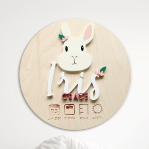 Bunny Birth Plaque
