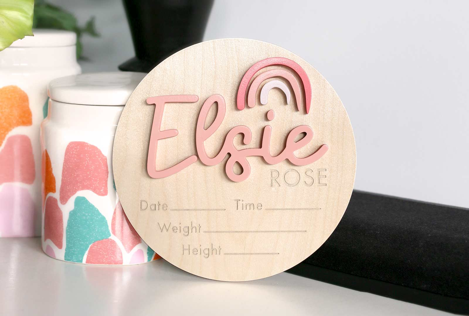 Announcement Birth Plaque