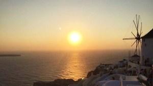 Oia sur l'île de Santorin