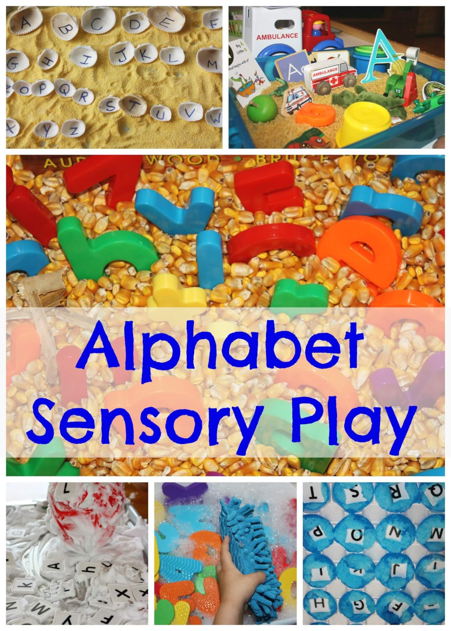 Simple Alphabet Play Dough Activity Tray