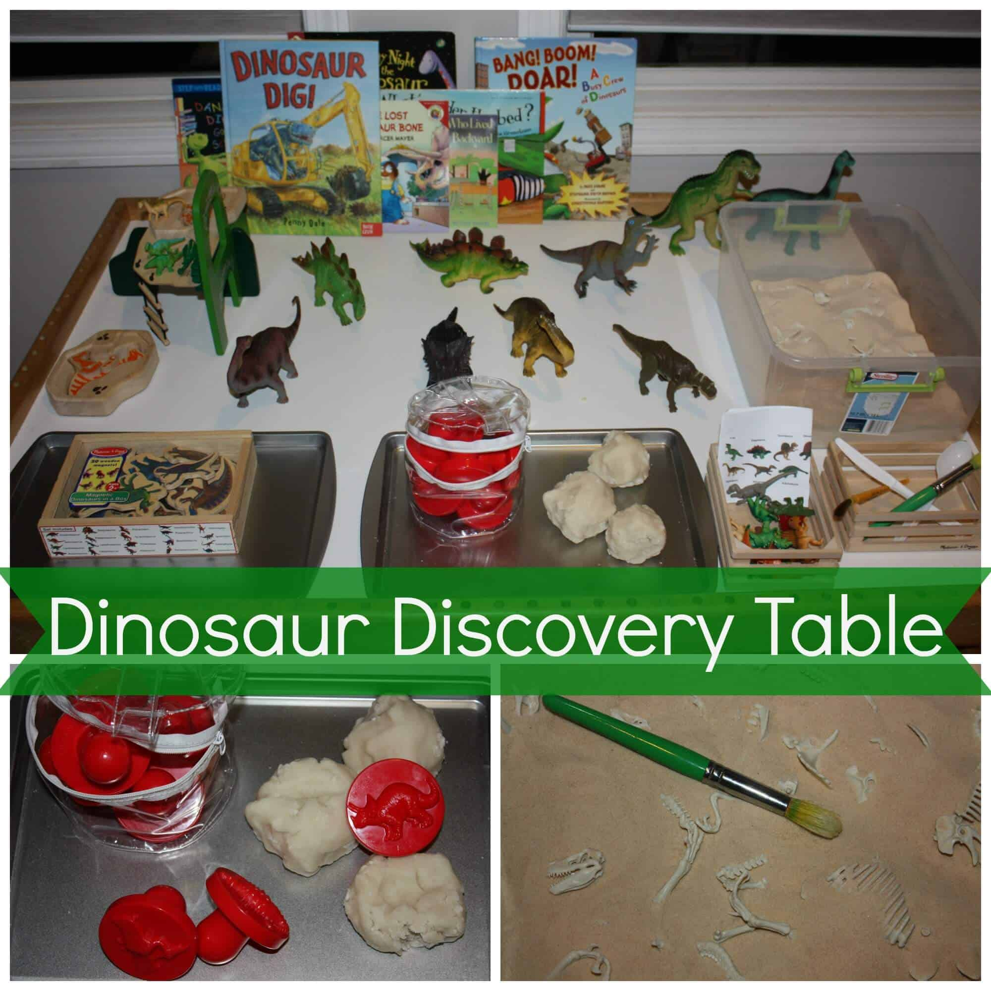 Preschool Dinosaur Discovery Table