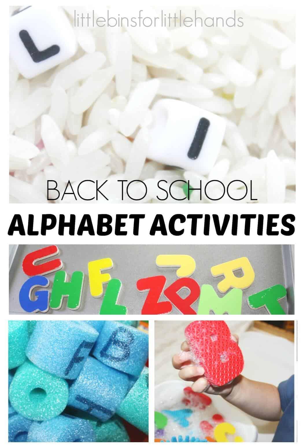 Alphabet Activities Back To School For Kids