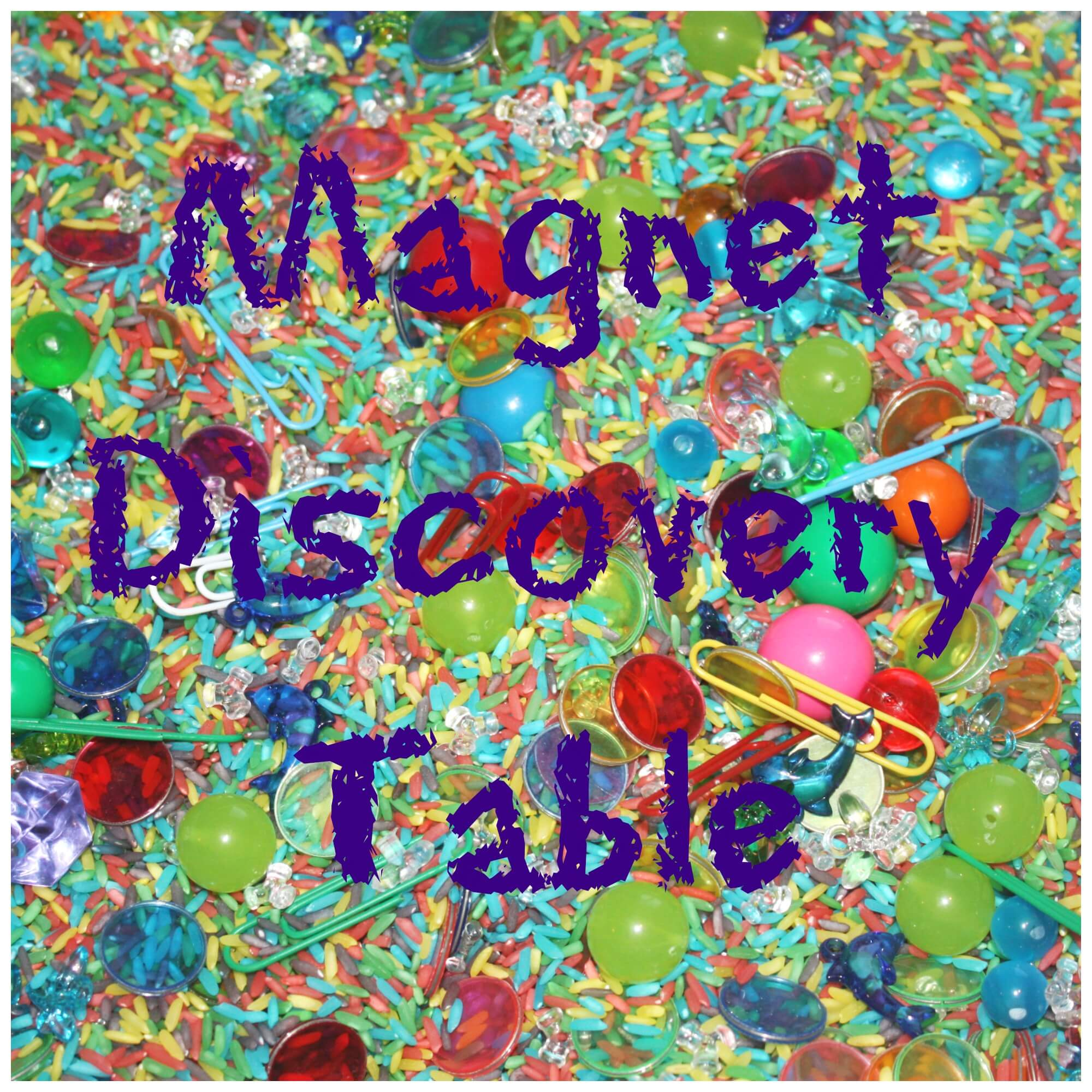 Preschool Discovery Table Exploring Magnets