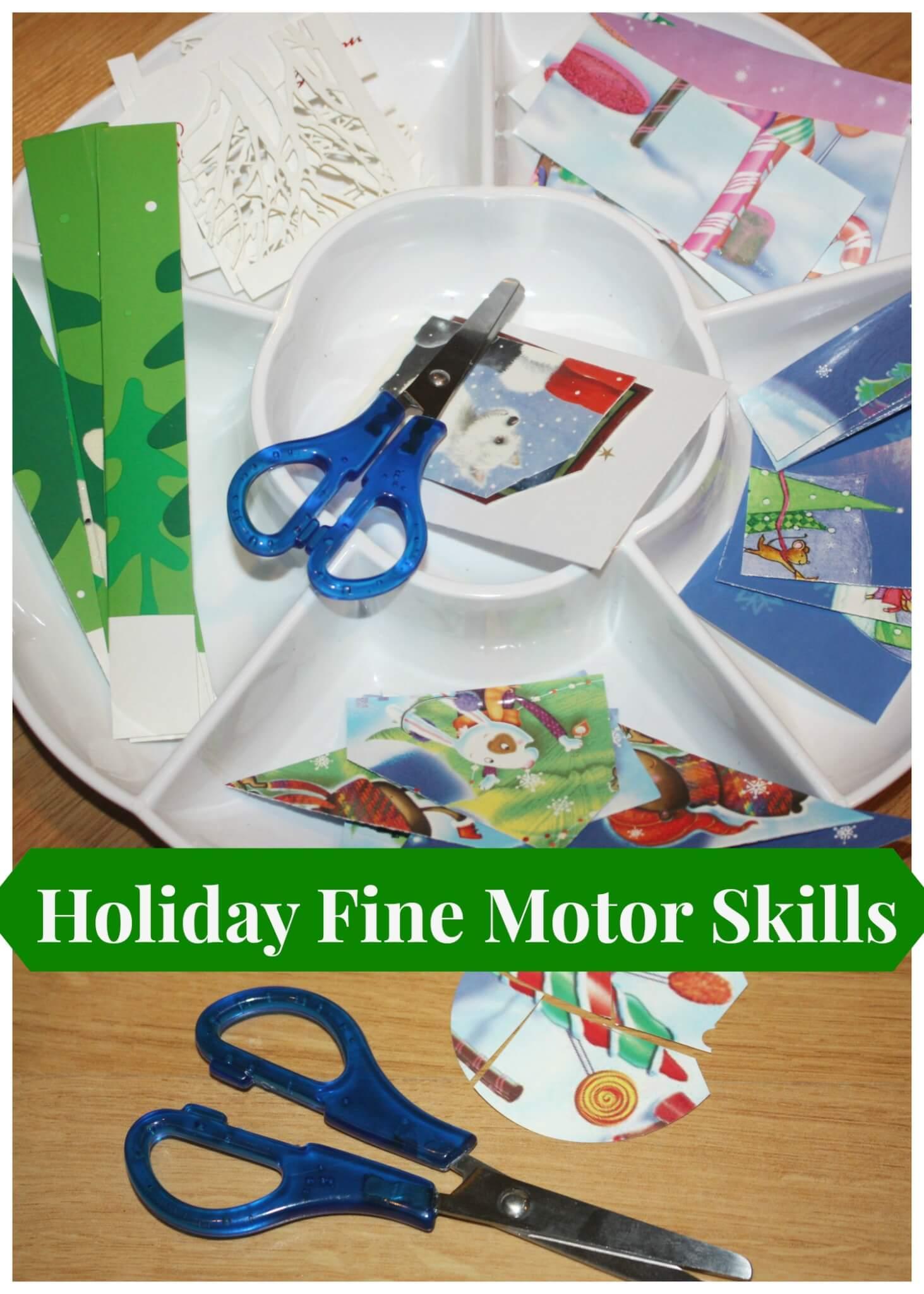 Christmas Play Dough Fine Motor Play Little Bins For