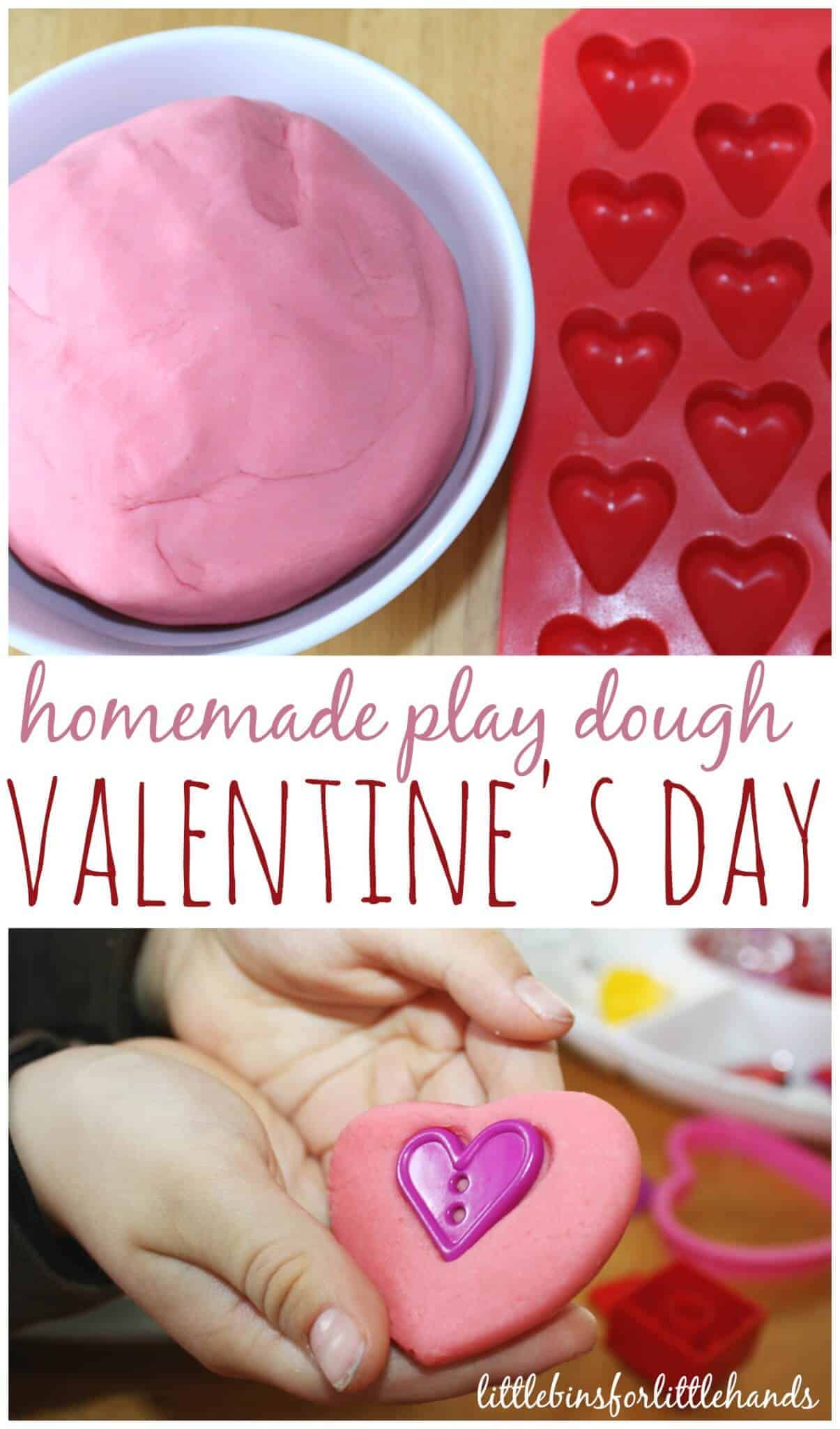 Valentines Play Dough Sensory Activity For Kids