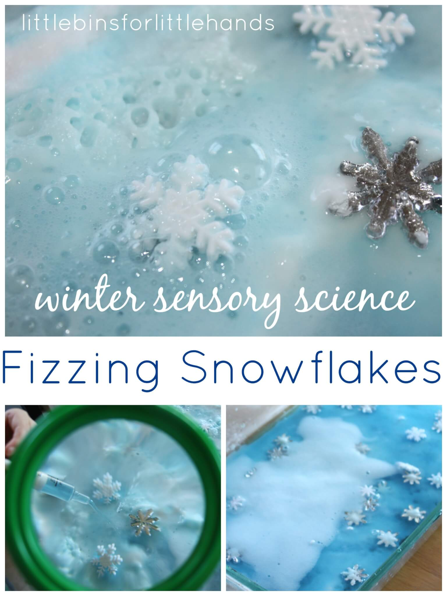Winter Snowflake Baking Soda Science Experiment Saturday