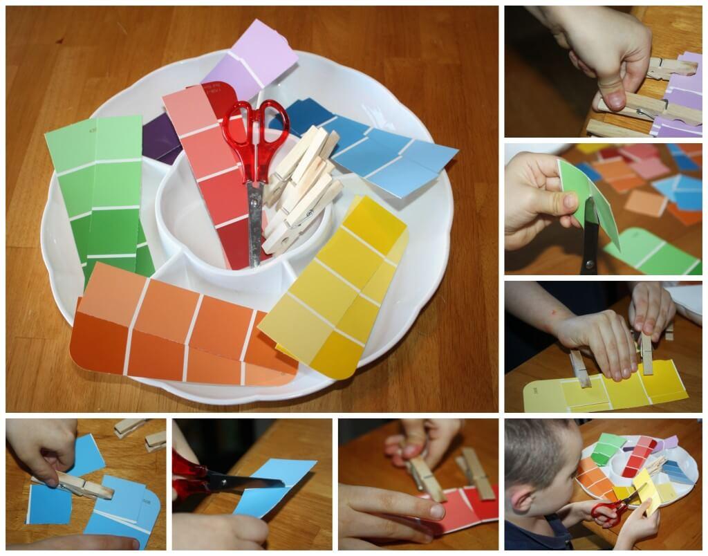 Rainbow Scissor Skills Rainbow Color Matching Activity