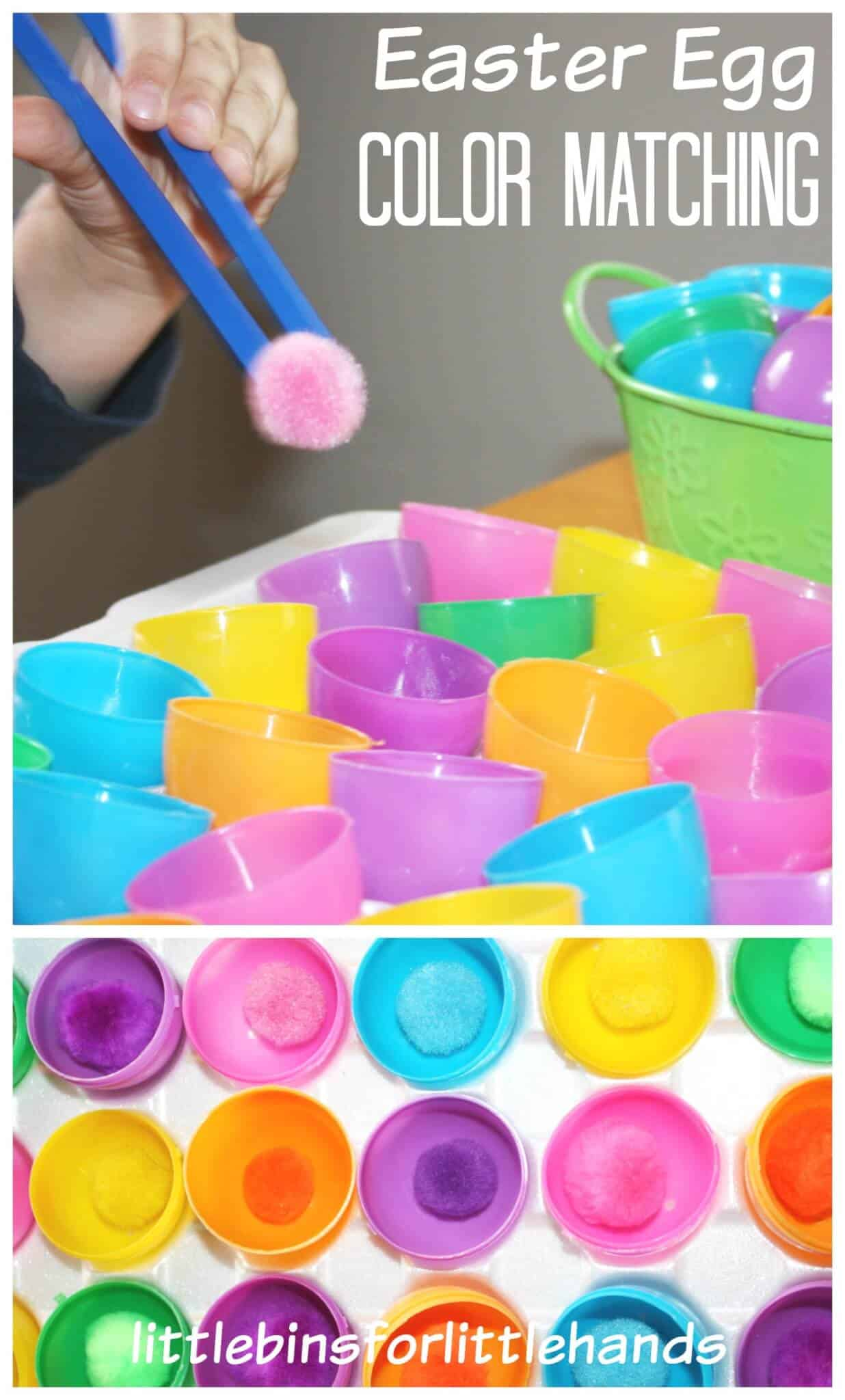 Easter Fine Motor Activity Color Matching Activity