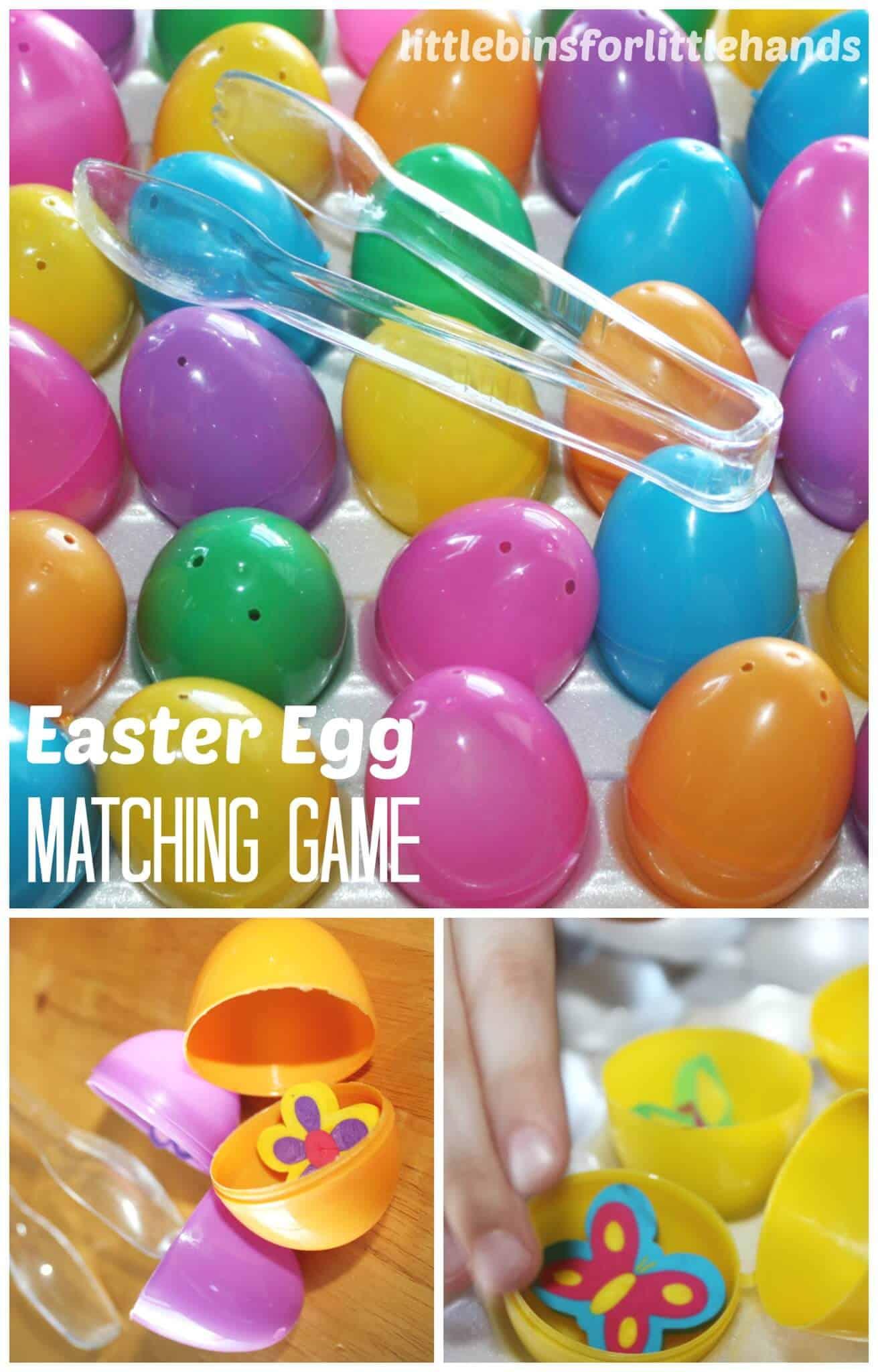 Easter Egg Games Math Memory Matching Activities