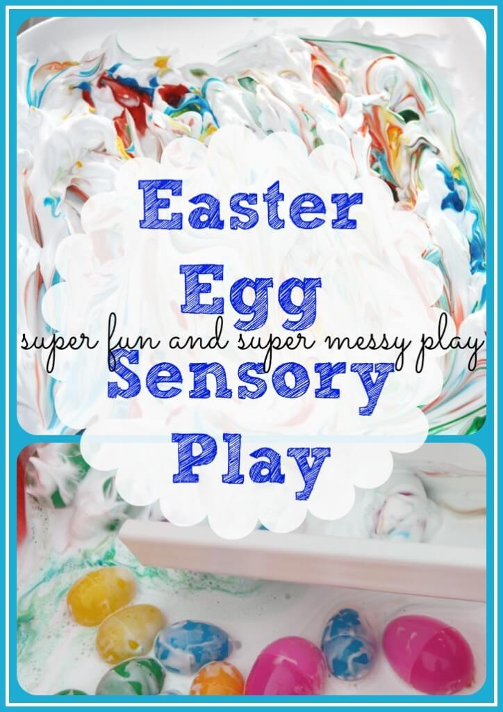 Easter Egg Water Amp Messy Sensory Play Two Ways To Play Little Bins For Little Hands