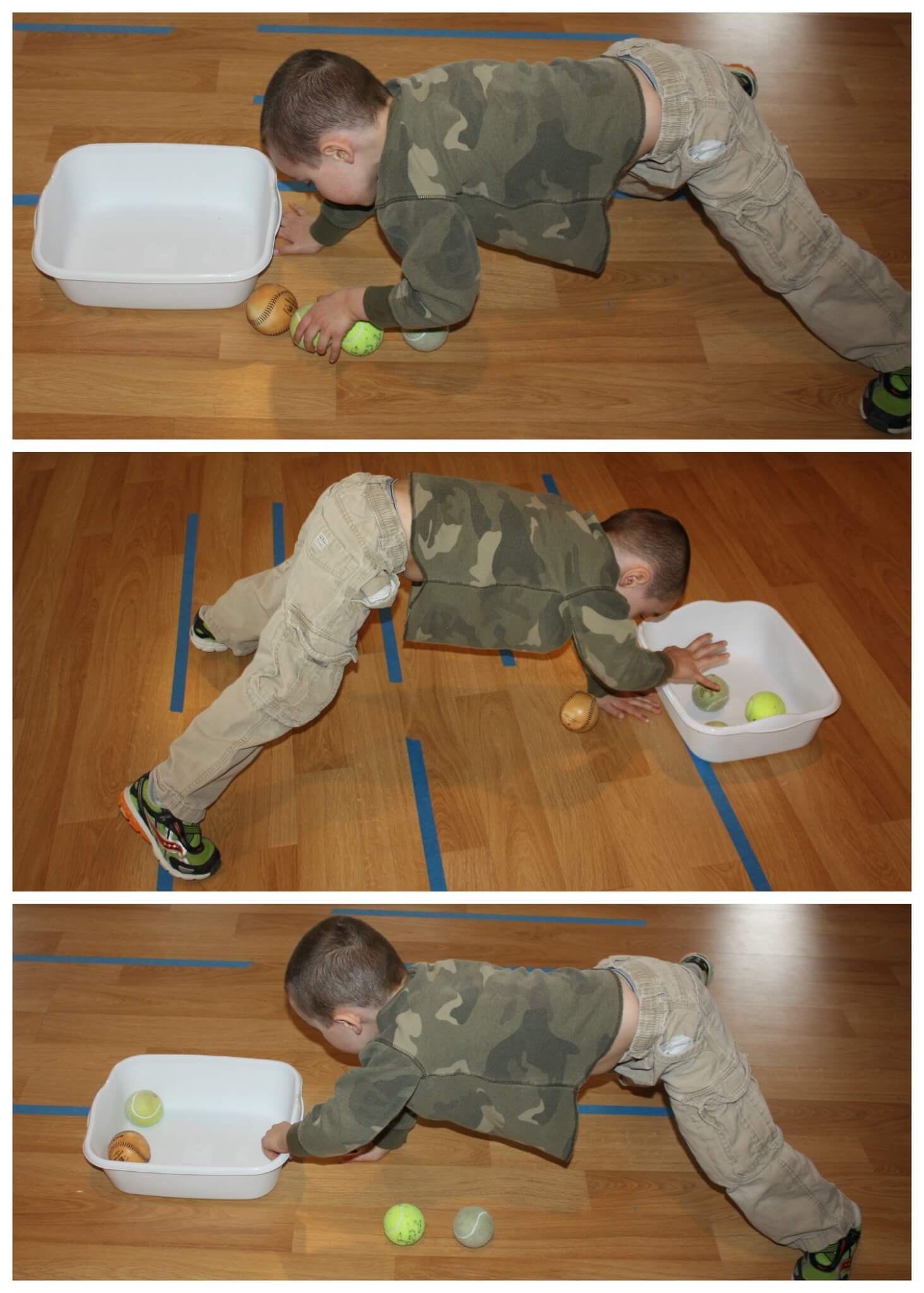 Vestibular Sensory Play Tennis Ball Games For Kids