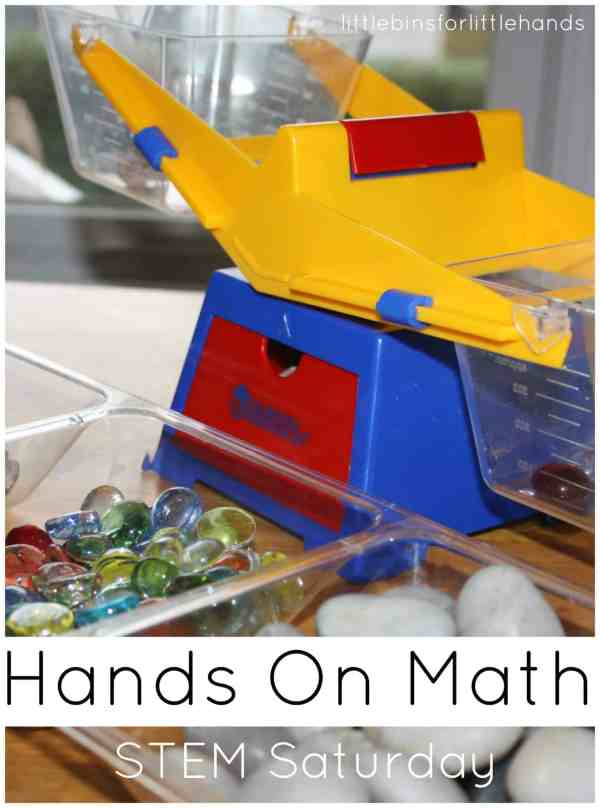Weighing Activity Stem Math Play Little Bins