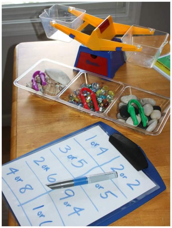 Weighing Activity Stem Math Play Little Bins