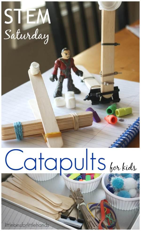 Popsicle Stick Catapults Kids Stem Activity