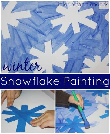 Snowflake Crafts Activities Happy Toddler Playtime