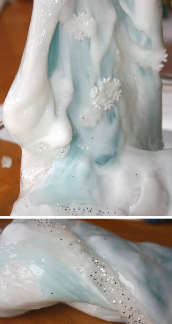 Arctic Slime and Homemade Winter Slime Recipe for Kids