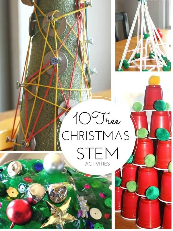 Christmas Stem Activities Tree Theme