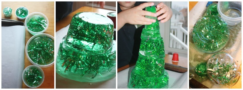 Christmas Tree STEM Ice tree building engineering activity
