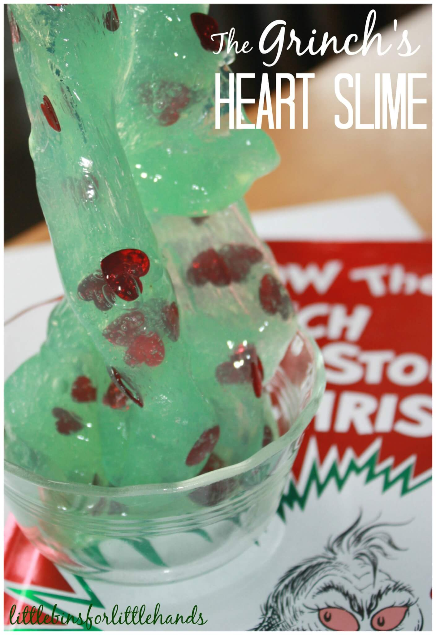 Grinch Slime Recipe For Book And Sensory Play Activity