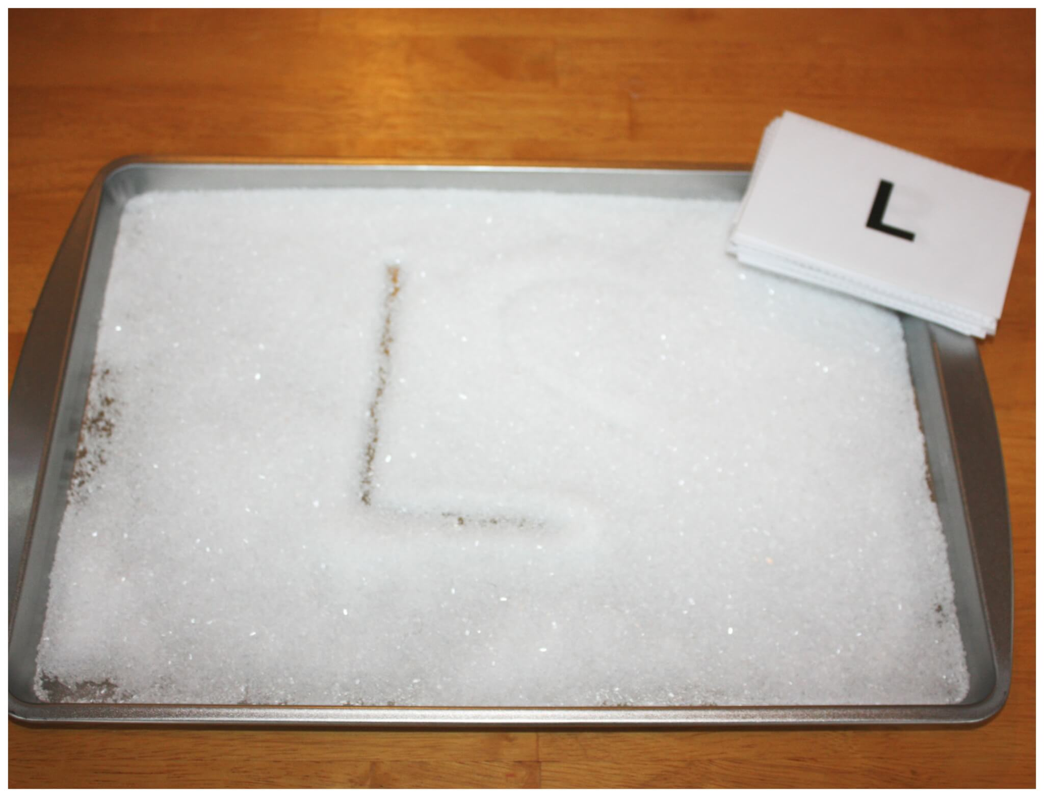 Letter Writing Salt Tray And Sensory Play Little Bins