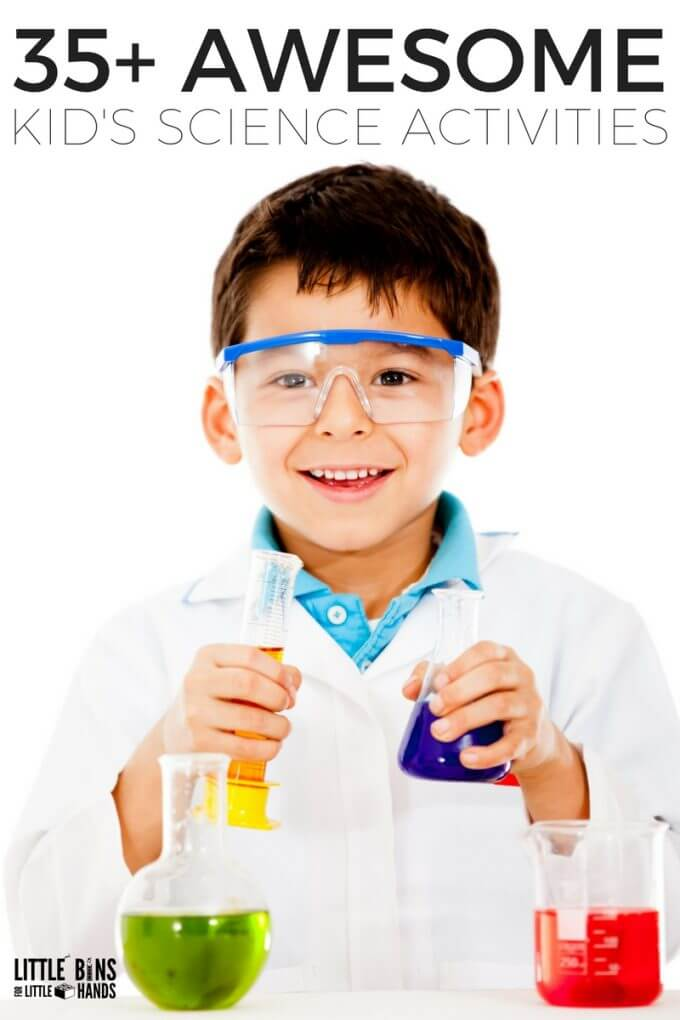 Awesome early elementary, kindergarten, and preschool science activities and experiments for kids. Easy to set up science experiments for families and classrooms for every little scientist!