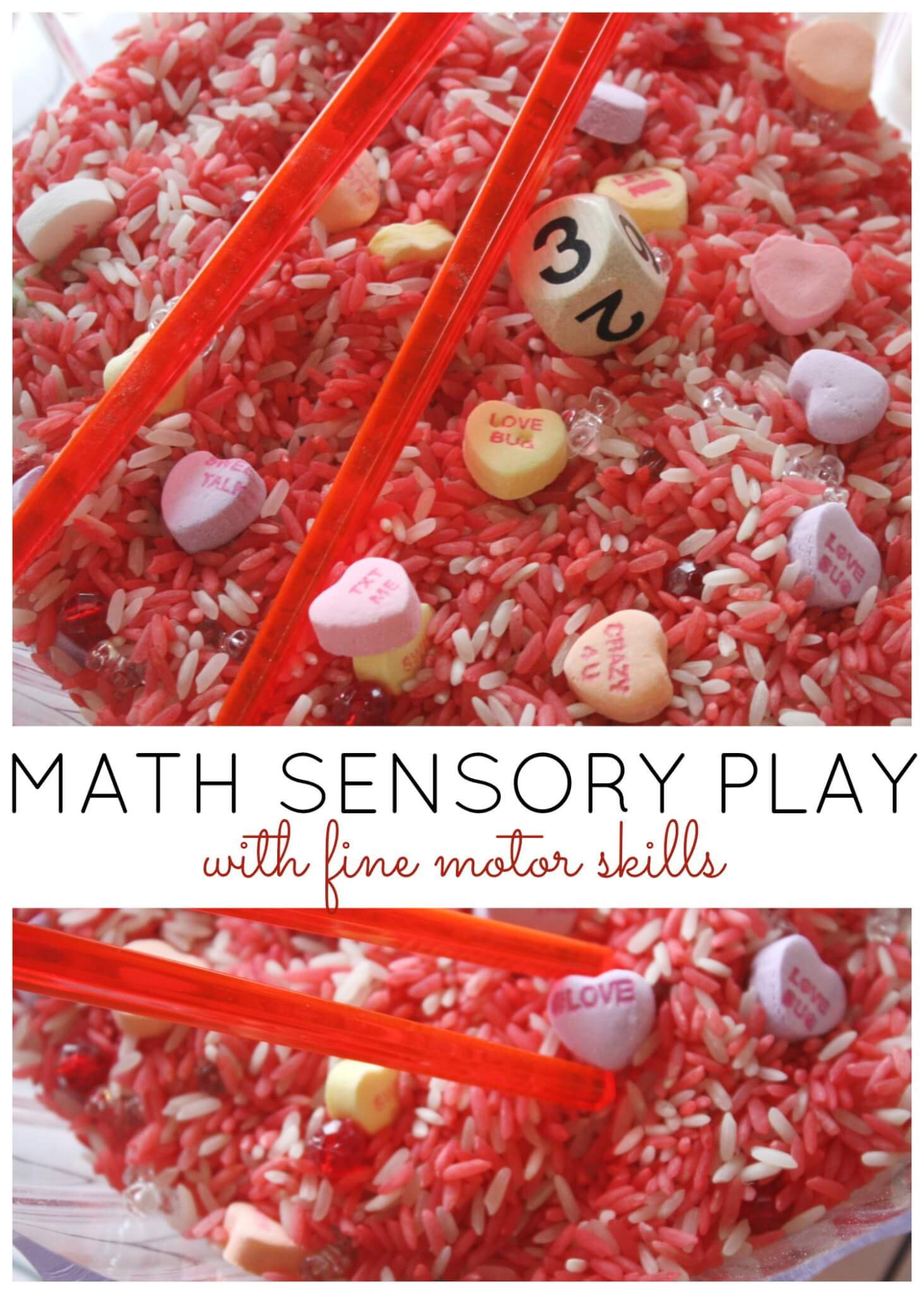 Heart Math Counting Game Preschool Valentine S Day Activity