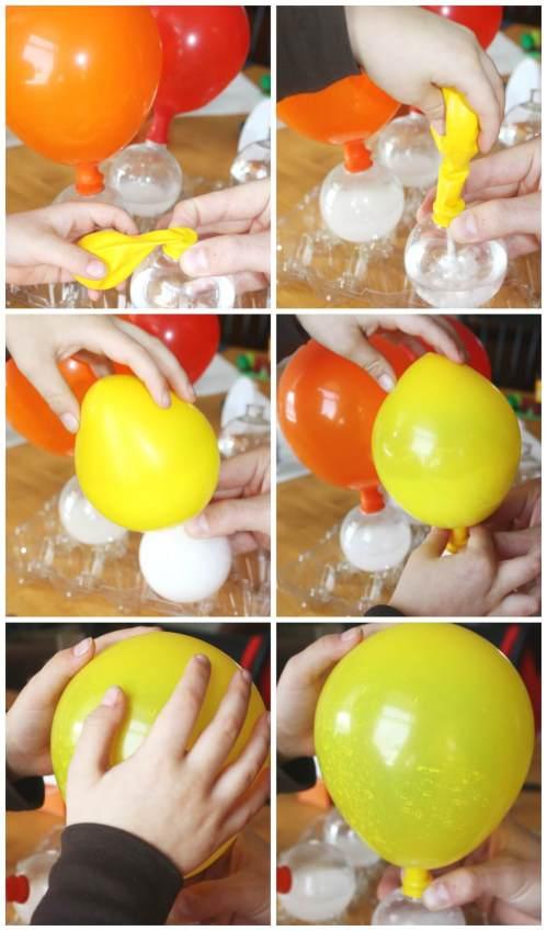 small resolution of balloon science inflating balloons experiment baking soda vinegar balloon activity