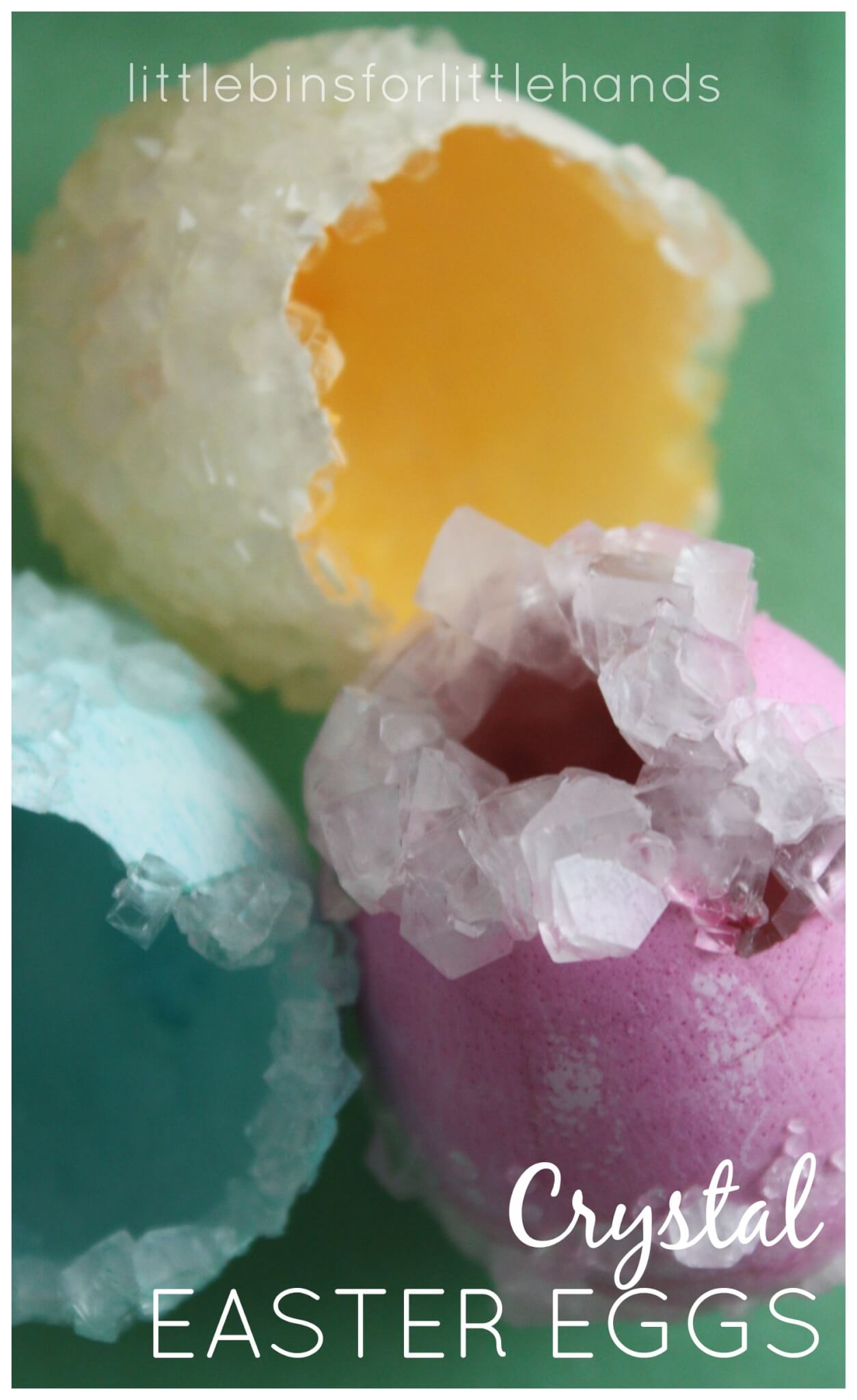 Crystal Eggs Easter Science Borax Crystals Activity