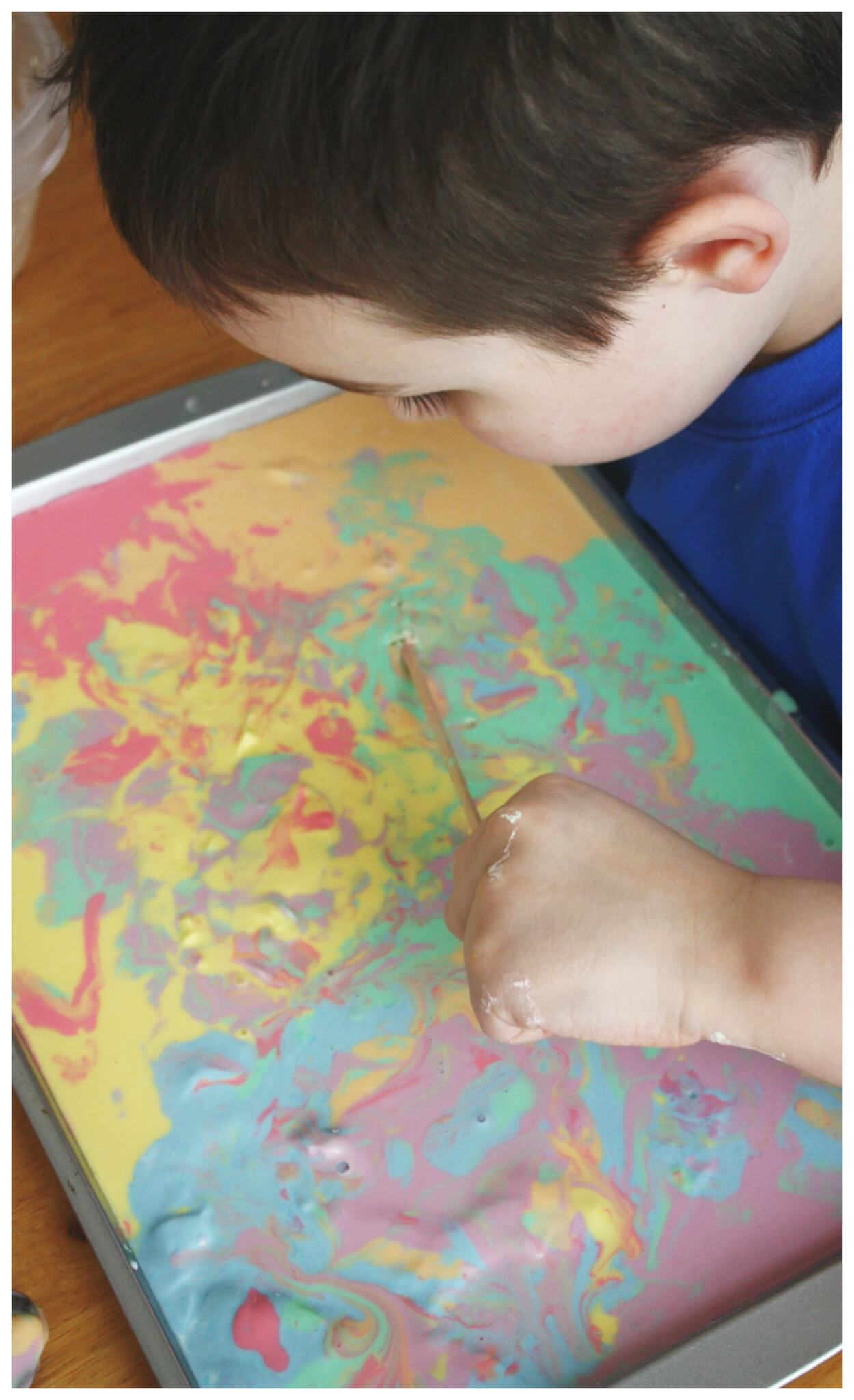 How To Make Colored Oobleck Science Art Sensory Play