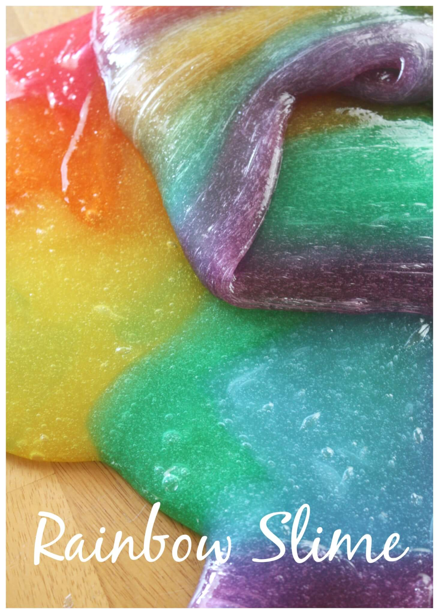 Rainbow Slime How To Make Cool Colored Slime