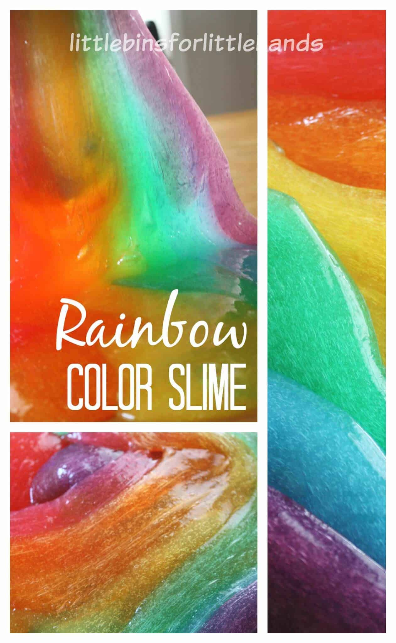 How To Color Slime Without Food Coloring : color, slime, without, coloring, Colorful, Rainbow, Slime, Little, Hands