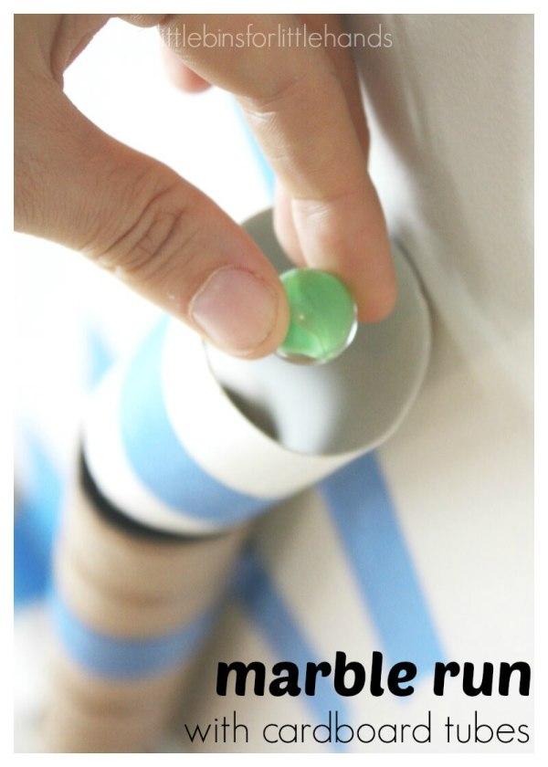 Cardboard Tube Marble Run Stem Activity Kids