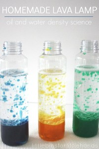 Homemade Lava Lamp Activity Water Oil Density Science