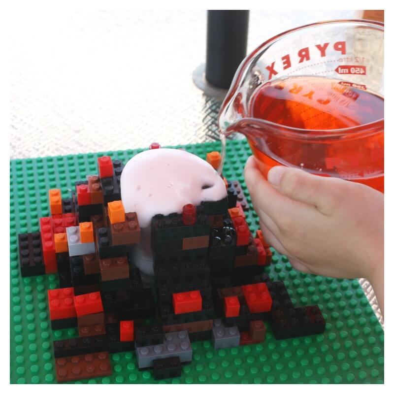 Lego Volcano Science Build A Lego Volcano Baking Soda