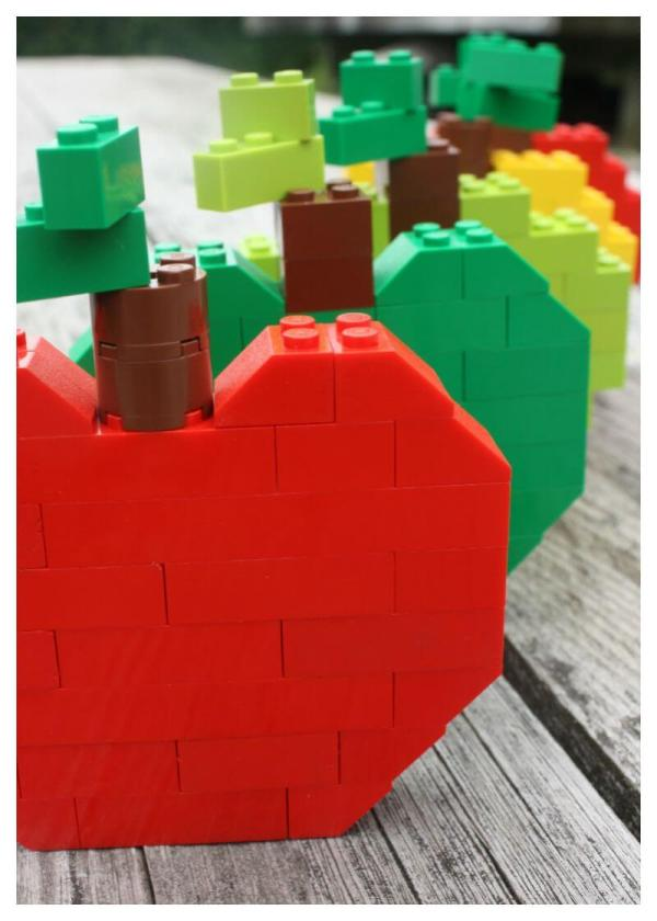 Lego Apples Build Apple Fall Activity