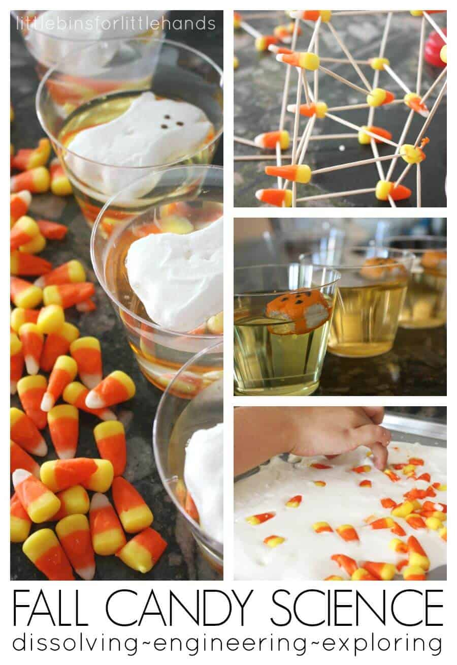 Fall Dissolving Candy Science and Candy Corn STEM Activities