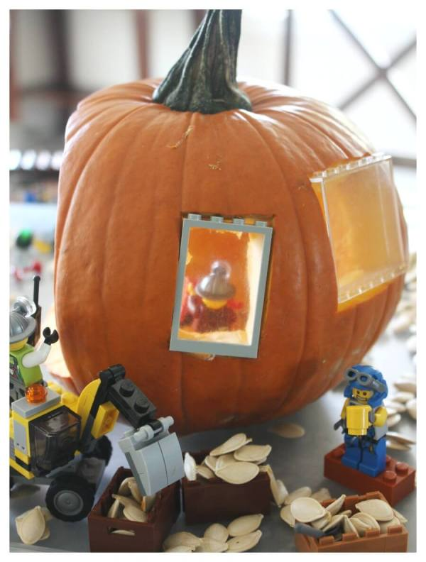 Lego Pumpkin Play Small World And Fall Stem