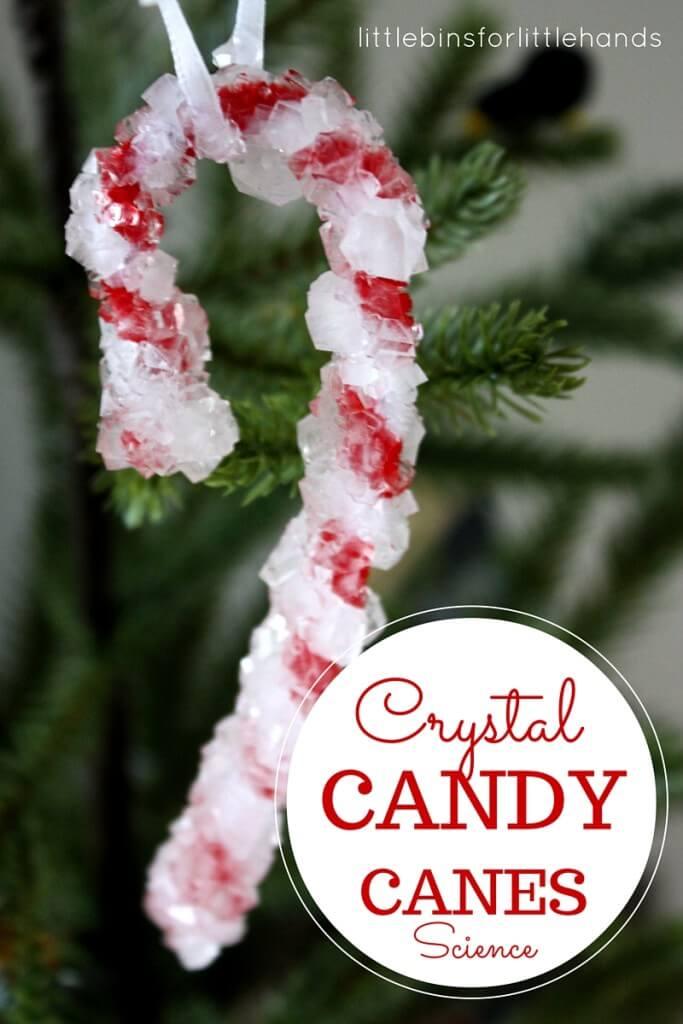 Crystal Candy Canes via LittleBinsforLittleHands.com