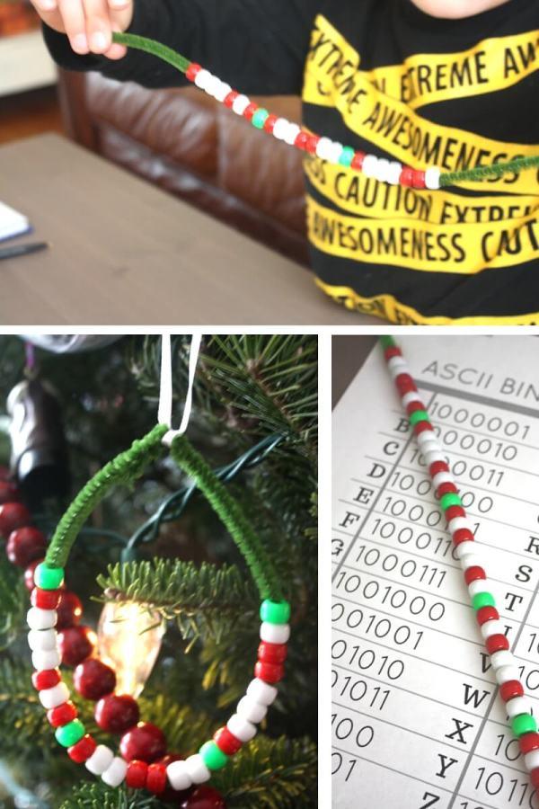 Christmas Coding Activity Steam Ornament Kids