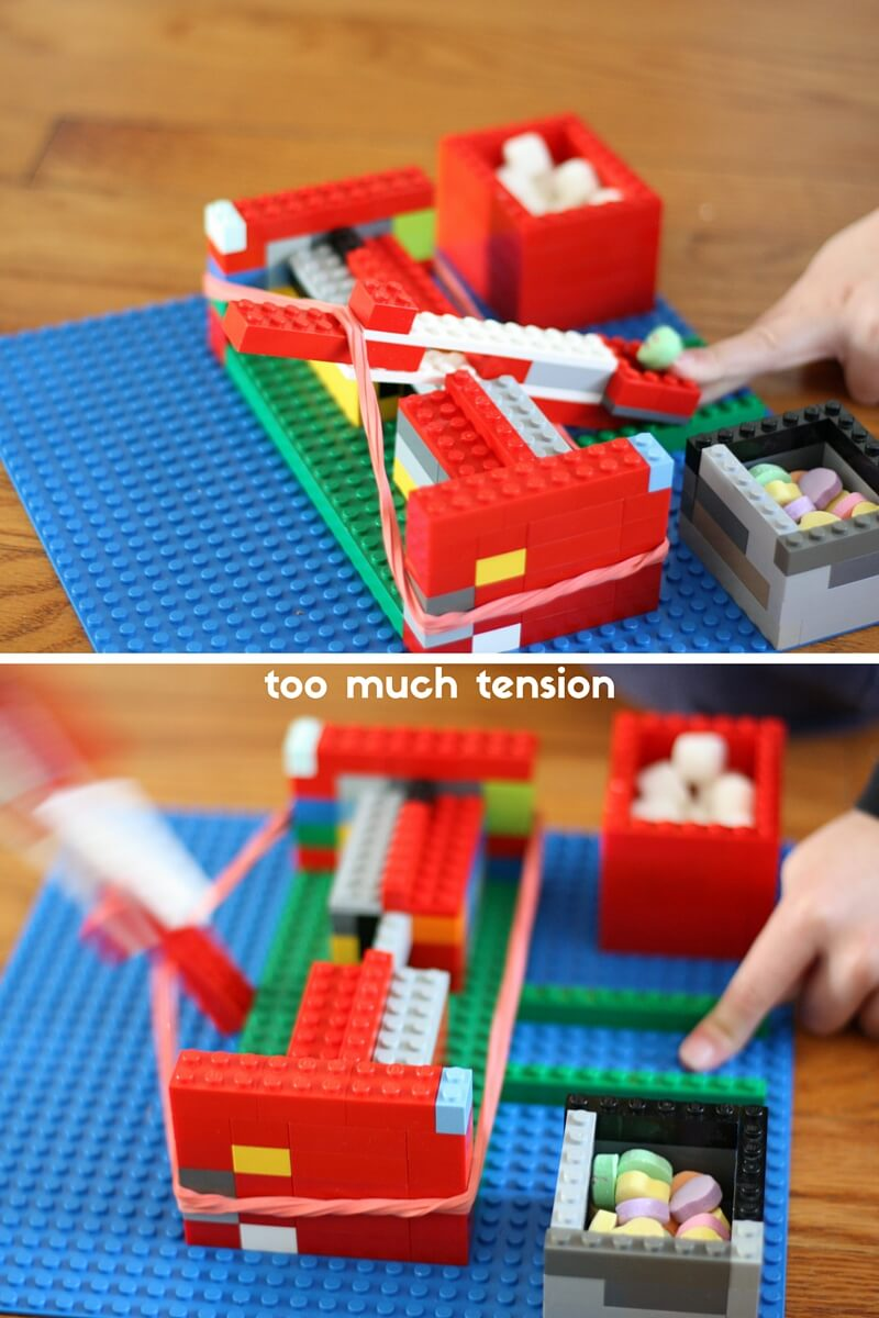 Easy Lego Catapult Tension Experiment Stem Activity