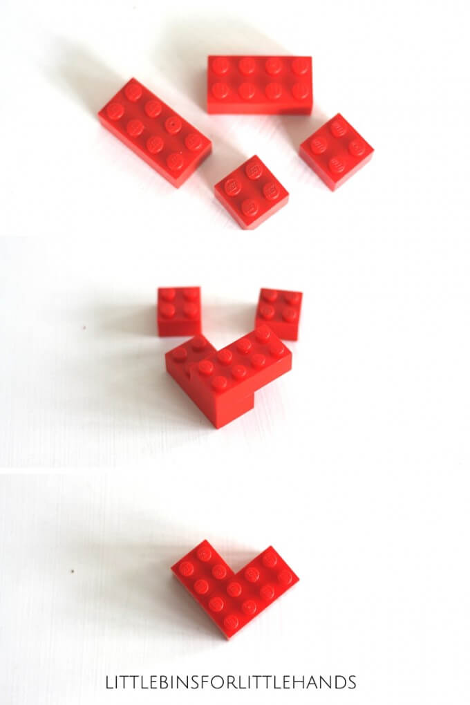 Mini LEGO Hearts Valentines Day STEM Idea For Kids