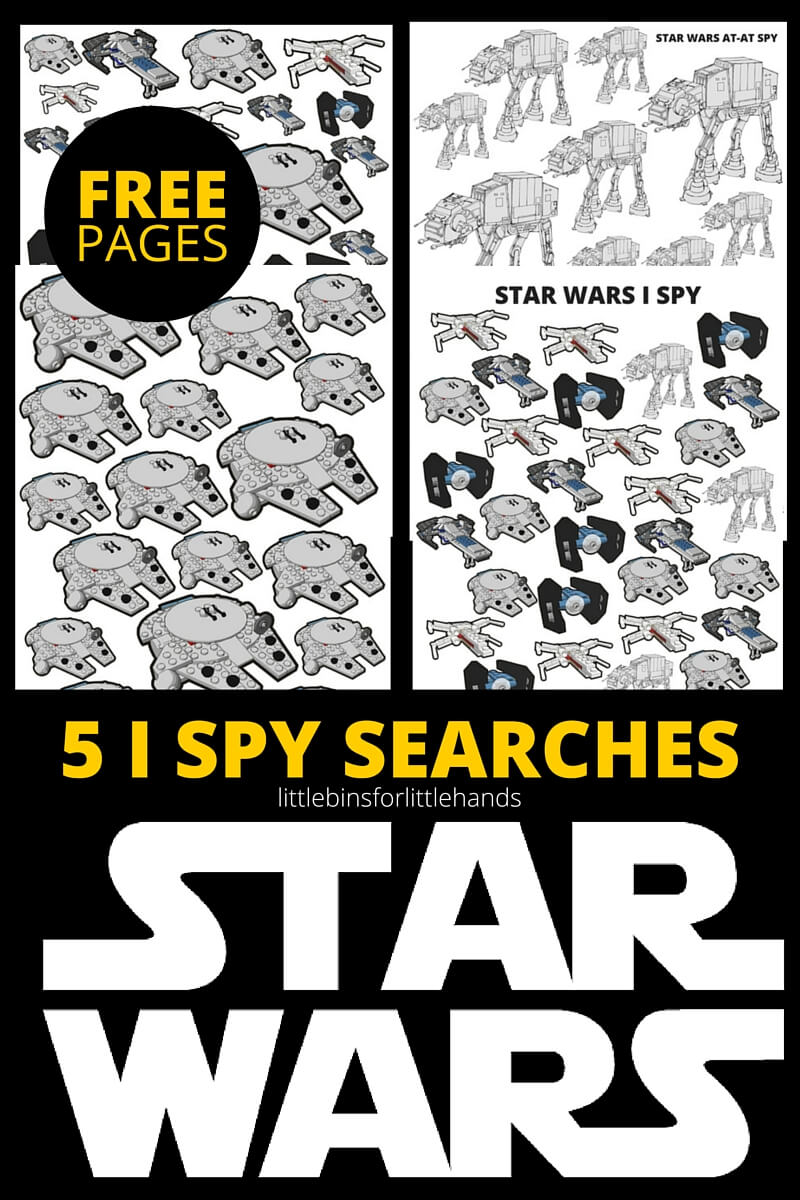STAR WARS I SPY Activities Free Printable Pages