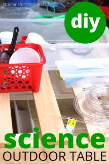 Outdoor Science Table Diy Pallet Project Kids Stem