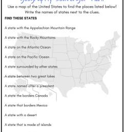 Geography Scavenger Hunt United States Activity [ 1056 x 768 Pixel ]