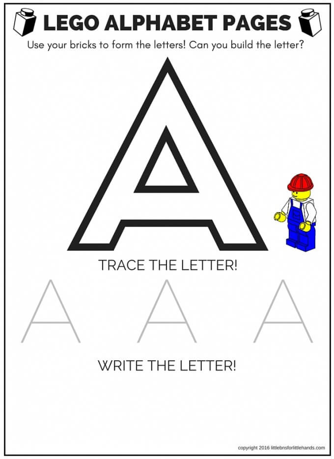 LEGO Letter Activity And Free Printable Letter Sheets