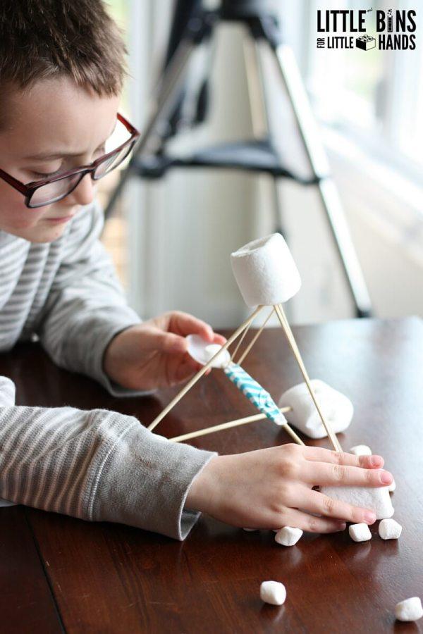 Marshmallow Catapult Activity Kids Stem