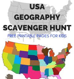 Geography Scavenger Hunt United States Activity [ 1200 x 800 Pixel ]