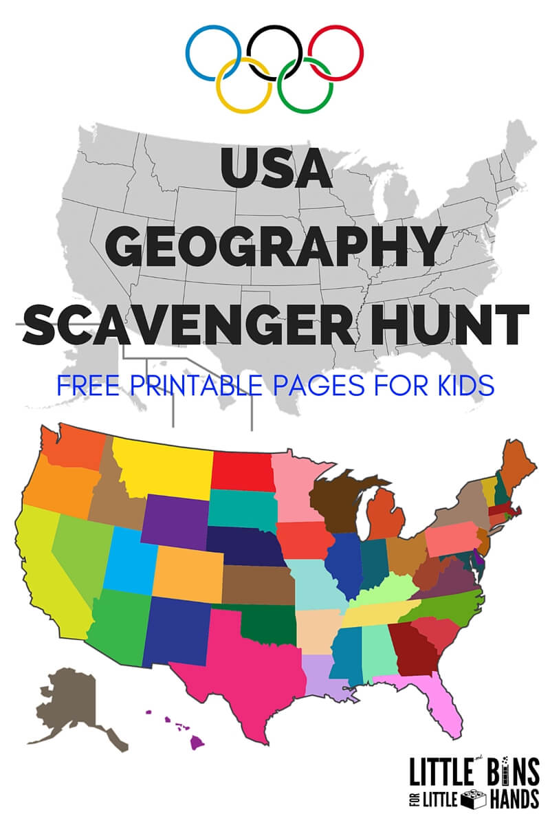 medium resolution of Geography Scavenger Hunt United States Activity