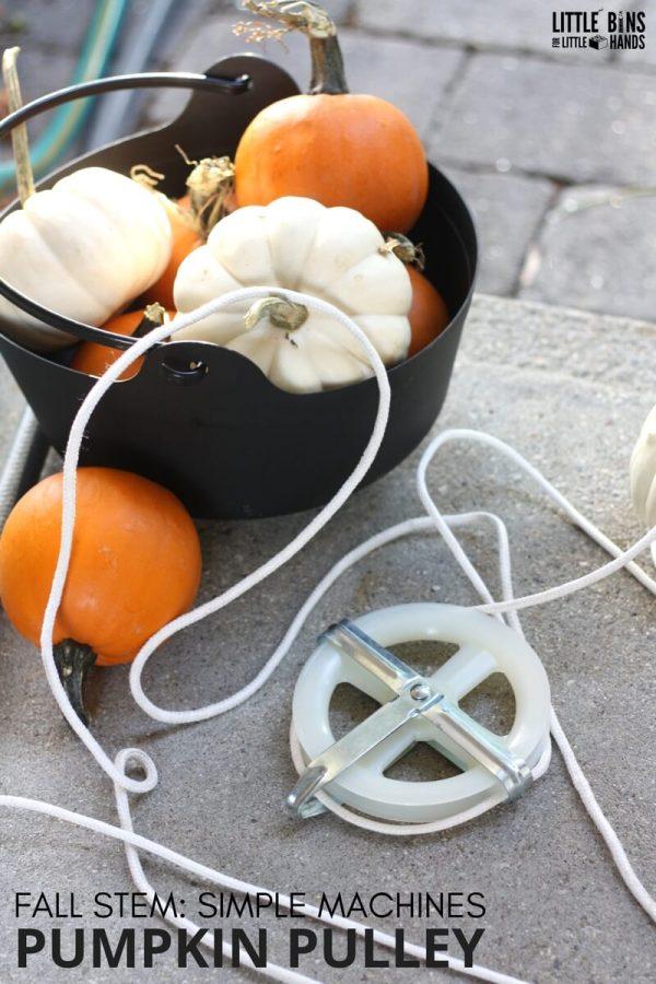Pumpkin Pulley Simple Machine Fall Stem Project Kids