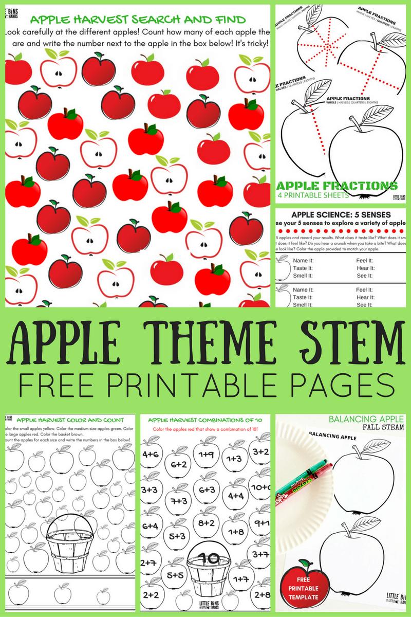 medium resolution of Apple Worksheets For Preschool   Little Bins for Little Hands